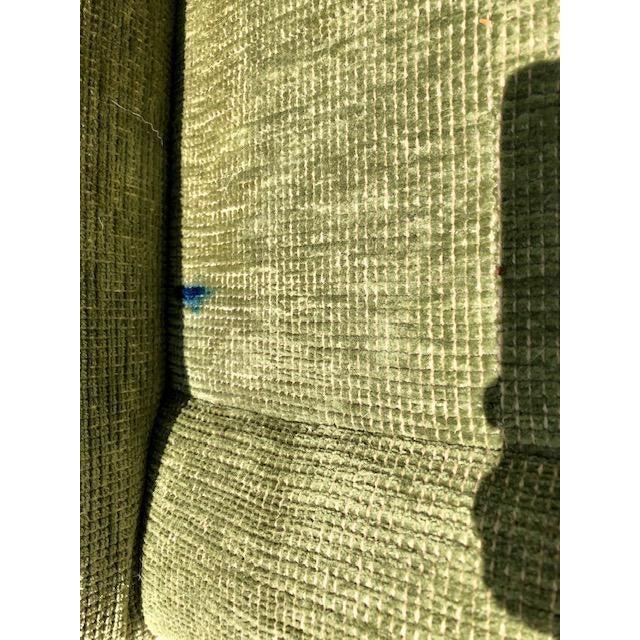1990s Vintage Edward Ferrell Green Fringe Sofa For Sale - Image 12 of 13