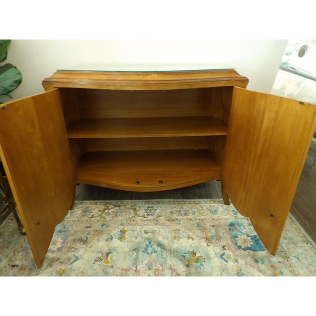 Mid 20th Century Vintage Bombay Burl Wood Chest/Cabinet For Sale - Image 5 of 8