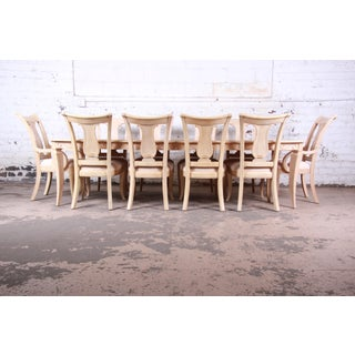 Bernhardt Mediterranean Style Carved Maple Dining Set With Ten Chairs Preview