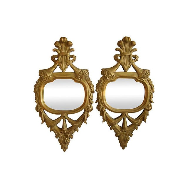 Gold Antique French Giltwood Mirrors - A Pair For Sale - Image 8 of 8