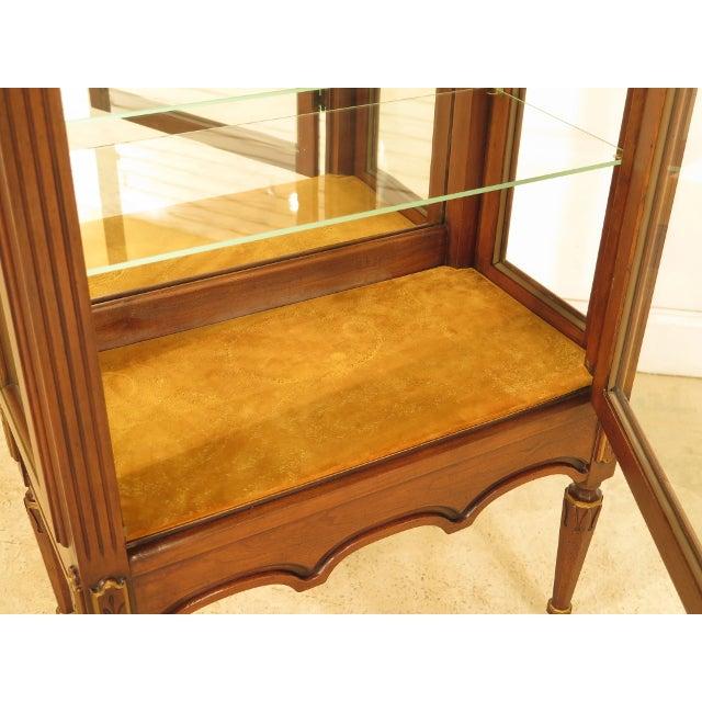 Louis XVI-Style Walnut Vitrine Curio Cabinet - Image 10 of 11