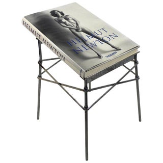 1990s Vintage Helmut Newton Sumo Big Nude Art Book & Starck Chrome Stand - 2 Pieces For Sale