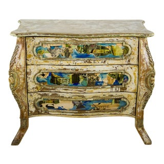 Vintage French Louis XV Style Bombe Commode For Sale