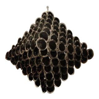 Large Black Disc Chandelier For Sale