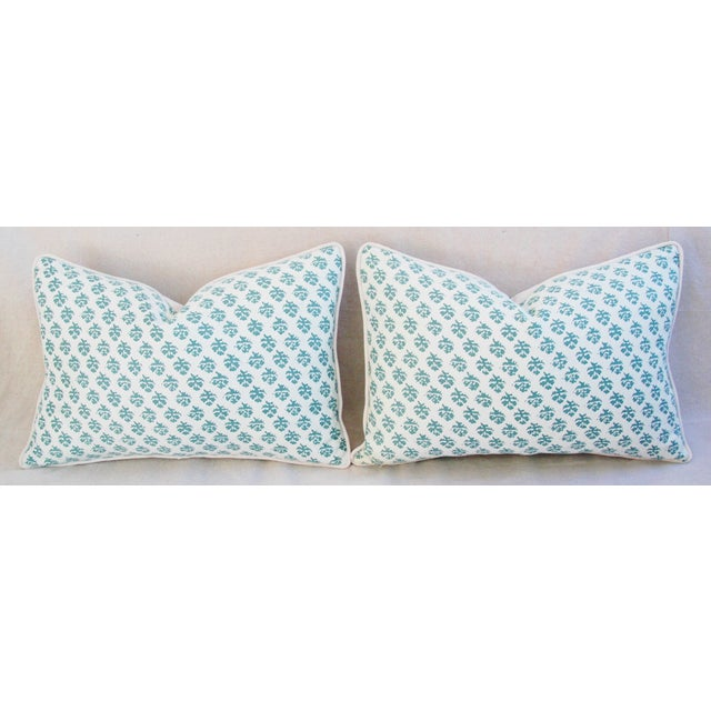Textile Custom Tailored Designer Italian Fortuny Persiano Pillows - A Pair For Sale - Image 7 of 11