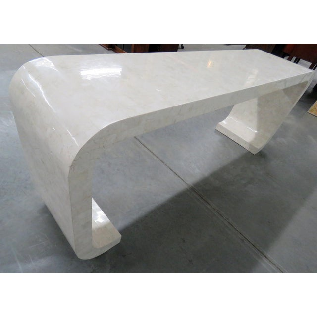 Stone Mid-Century Modern Tessellated Console Table For Sale - Image 7 of 10