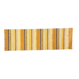 """New Handwoven Reversible Vintage Swedish Rug by Scandinavian Made 97"""" x 29"""" For Sale"""