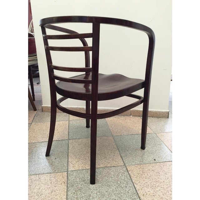 Beech Viennese Secession bentwood armchair, 1900s For Sale - Image 7 of 8