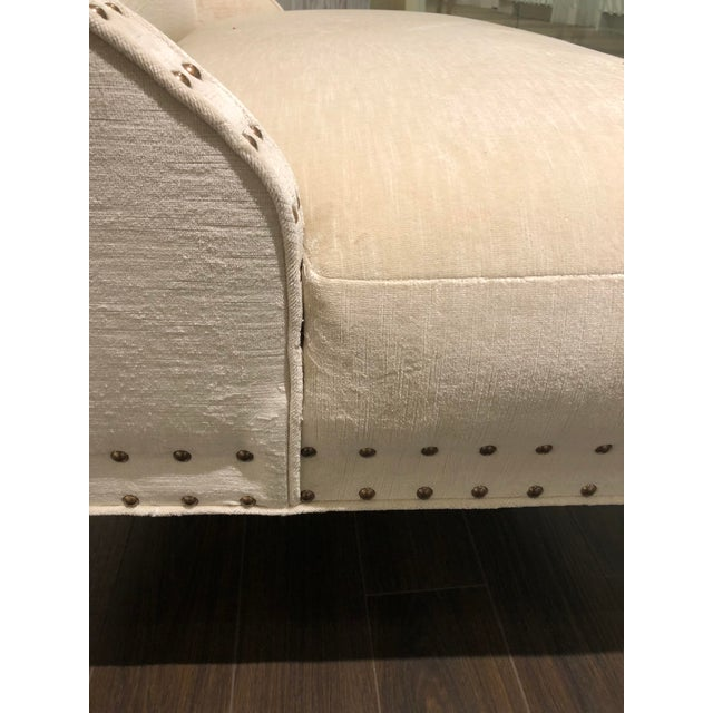 Early 21st Century Transitional Off-White Upholstered Settee For Sale - Image 5 of 7