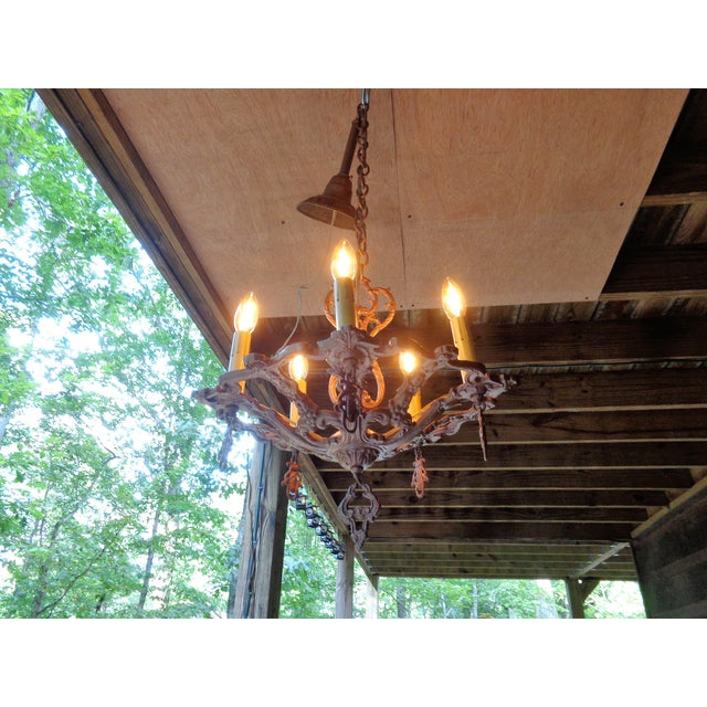 This is a rare unique ornate designed Lapco 1615K chandelier that I discovered at a home in the backwoods of Alabama. Many...