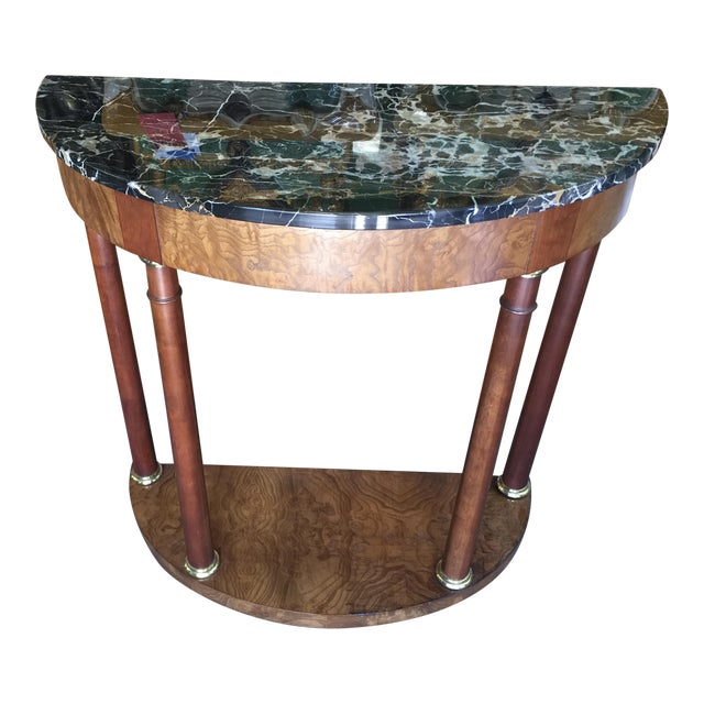 Baker Furniture Demilune Table For Sale