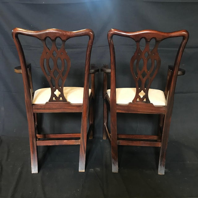 19th Century Antique English Mahogany Chippendale Style Dining Chairs-Set of 6 For Sale - Image 4 of 13