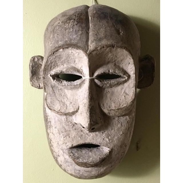 African Vintage Tribal Hand Carved African Mask For Sale - Image 3 of 9