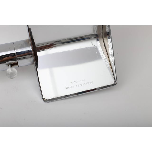 Late 20th Century Polished Chrome Cantilevered Table Lamp by Cedric Hartman 1970s For Sale - Image 5 of 9