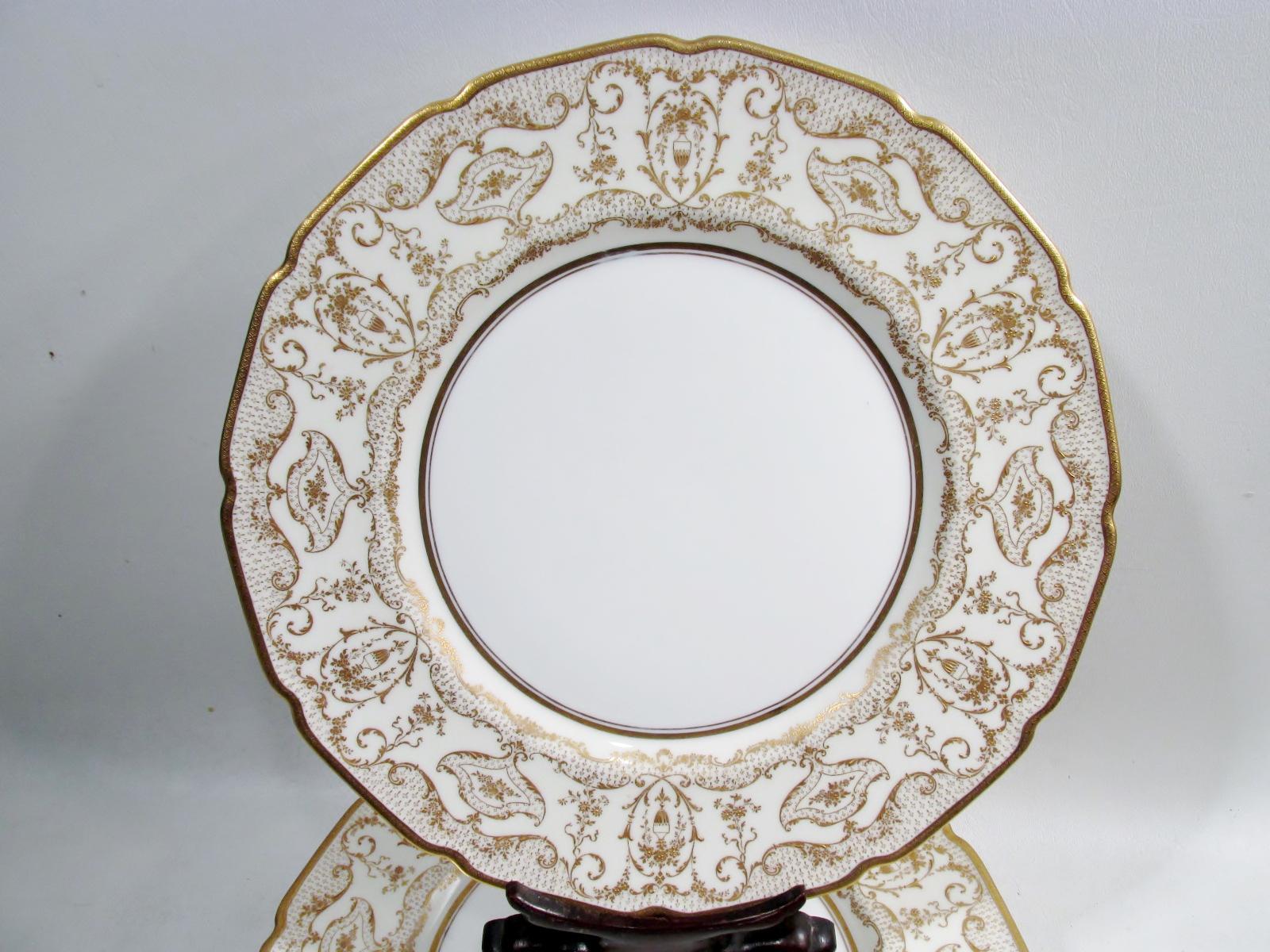 Antique Spaulding u0026 Co Royal Doulton Dinner Plates - Set of 10 - Image 6 of  sc 1 st  Chairish & Antique Spaulding u0026 Co Royal Doulton Dinner Plates - Set of 10 ...