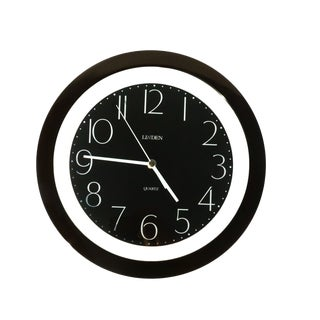 1980s Black Linden Wall Clock For Sale