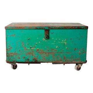 Vintage Industrial Trunk For Sale