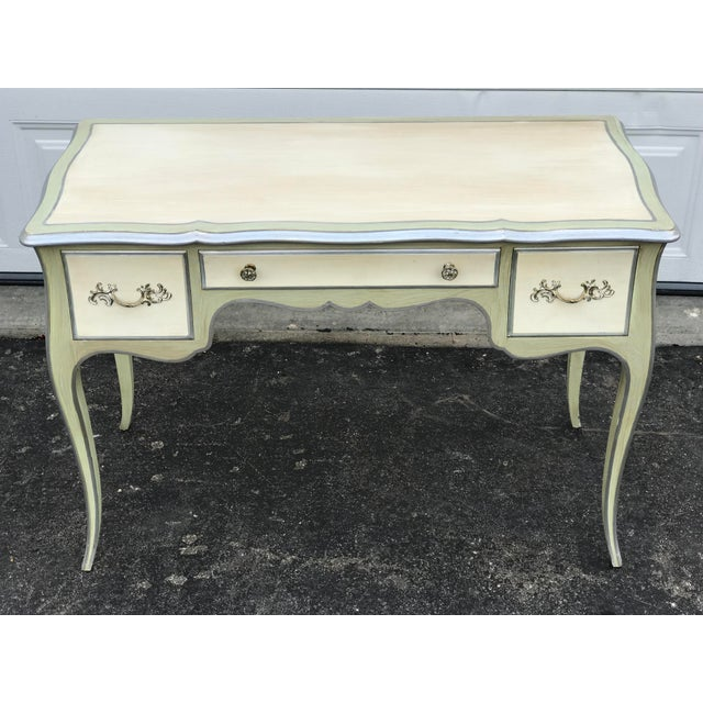French John Widdicomb Mid-Century French Ladies Writing Desk and Chair For Sale - Image 3 of 12