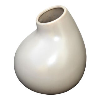 Contemporary Ceramic Taupe Vase For Sale