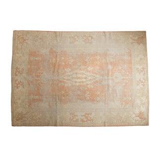 "Vintage Distressed Oushak Carpet - 8'2"" X 11'7"" For Sale"