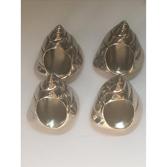 Silver Seashell Napkin Rings - Set of 4 - Image 6 of 7
