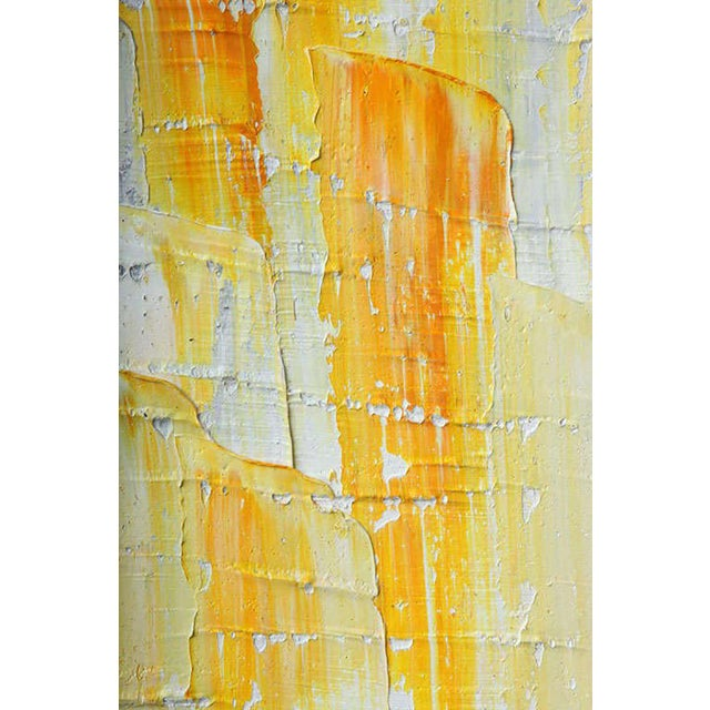 Yellow Renato Freitas Original Oil on Canvas For Sale - Image 8 of 8