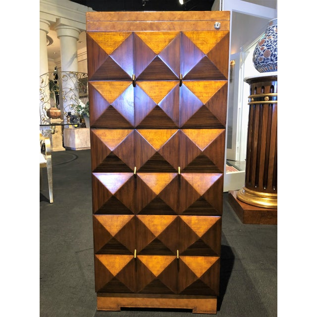 Hollywood Regency Maitland-Smith Carved & Tooled File Cabinet For Sale - Image 13 of 13