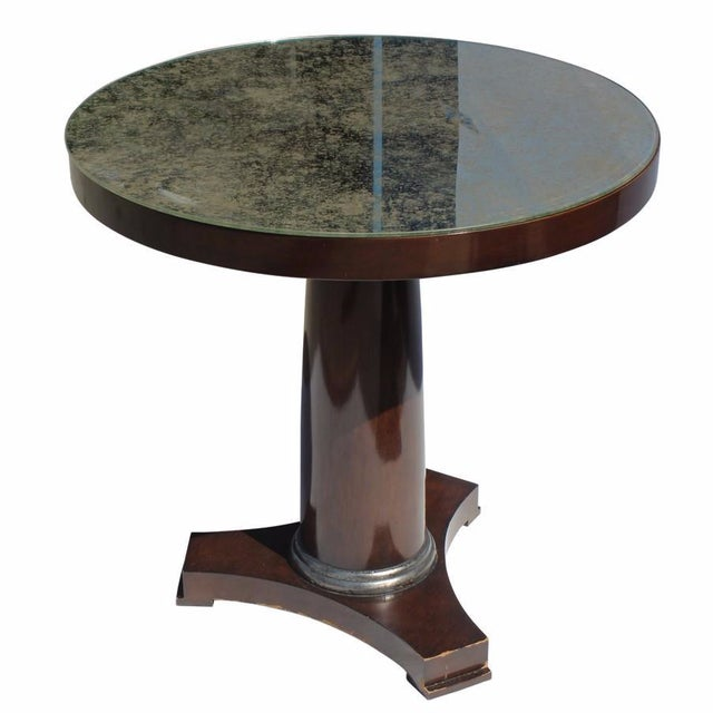 Bristol Antiqued Mirror Top Side Table For Sale