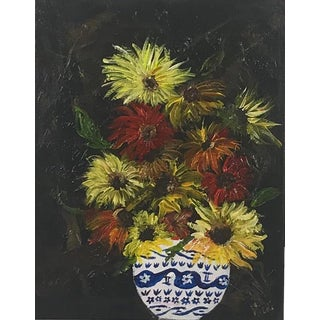 Vicki Willis Contemporary Floral Still Life Painting For Sale