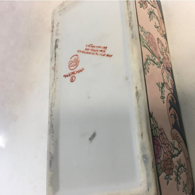Chinese Hand-Painted Porcelain Lotus Box For Sale - Image 4 of 5