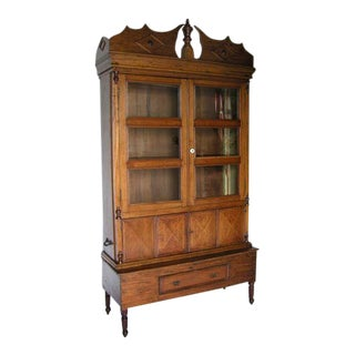 Honduran Display Cabinet For Sale