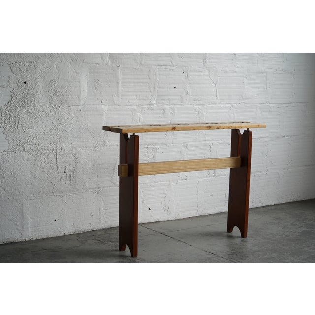 This side table was made in-house by one of our team members, Jeff. It has a great design on the top that resembles...