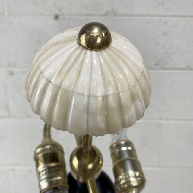 White Vintage Frederick Cooper Bone Table Lamp For Sale - Image 8 of 13