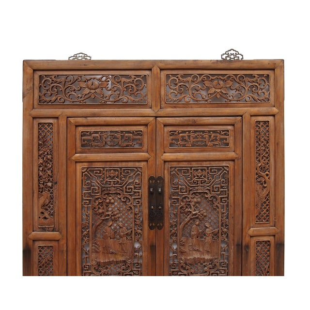 Vintage Carved Wood Asian Wall Panel/Screen - Image 3 of 6