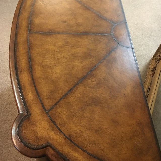 Maitland-Smith Leather Wrapped Console Table - Image 7 of 10