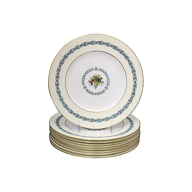 Ceramic Wedgwood Floral Dinner Plates, S/8 For Sale - Image 7 of 7