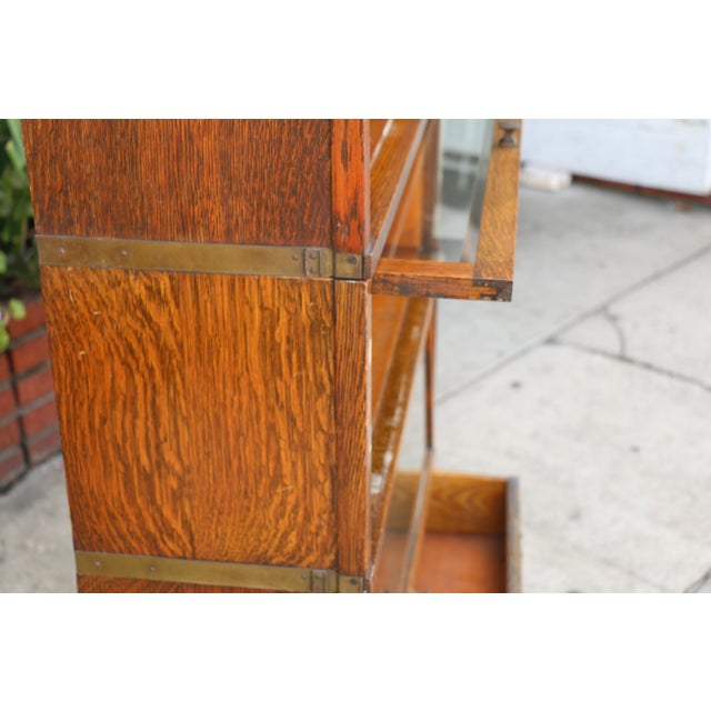 Antique Lawyers Bookcase For Sale - Image 11 of 11