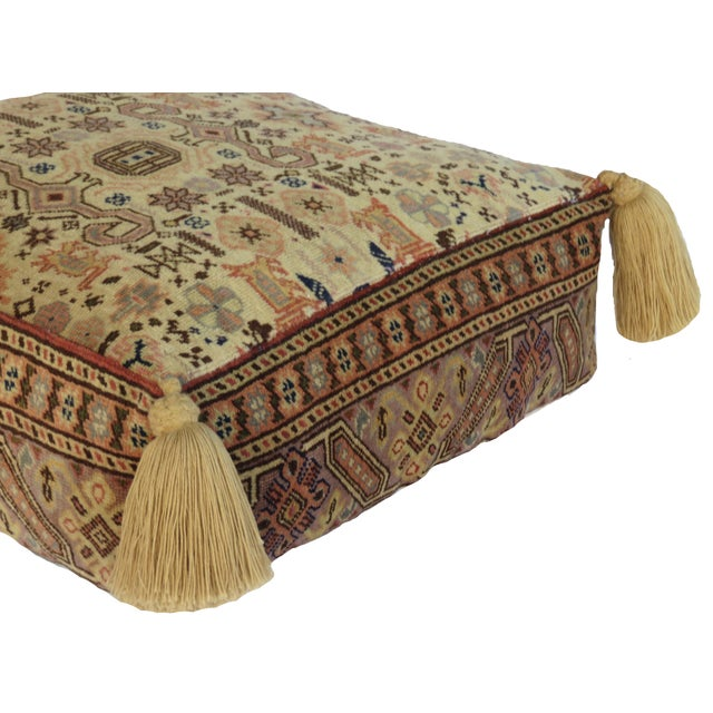 1980s Vintage Turkish Honey Wool Pouf For Sale - Image 5 of 8