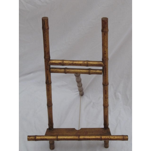 Transitional Large Florentine Style Bamboo Easel - Image 5 of 10