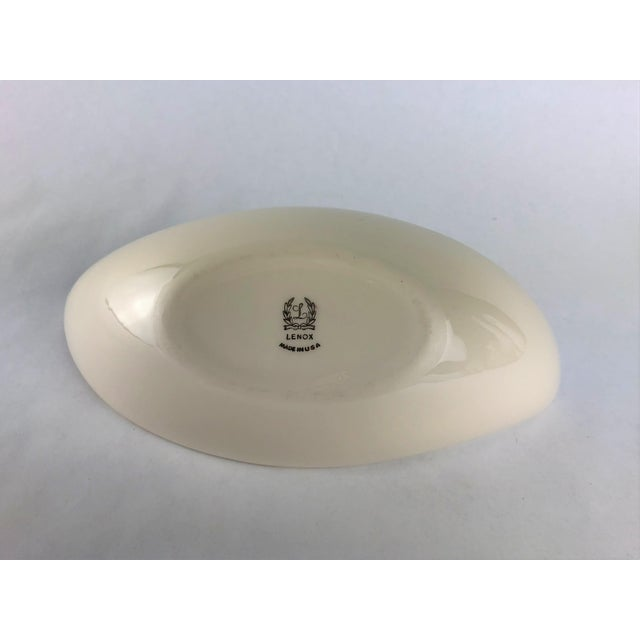 """1960s Lenox """"Weatherly"""" Pattern Asymmetrical Serving Bowl For Sale - Image 5 of 7"""