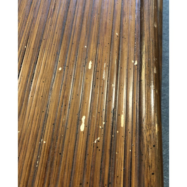Brown Bamboo Nesting Tables, Set of Three For Sale - Image 8 of 9