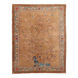 Early 20th Century Antique Chinese Peking Pictorial Rug 09'02 X 11'10 For Sale