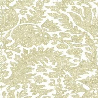 "Lewis & Wood Pomegranate Fresco Chicory Extra Wide 52"" Botanic Style Wallpaper Sample For Sale"
