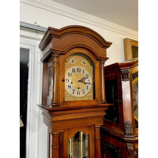 """Antique Waterbury Grandfather Clock - """"801 Hall Chime Clock"""" Model For Sale - Image 12 of 13"""