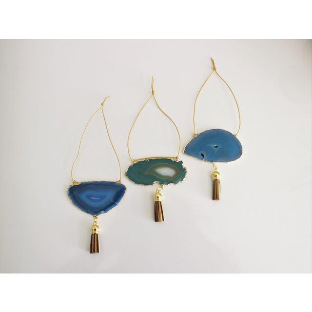 Modern Boho Agate Holiday Ornaments - Set of 3 - Image 2 of 5