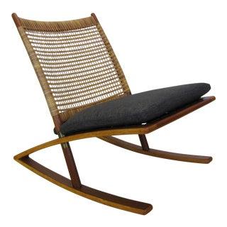 1950s Vintage Fredrik Kayser for Vatne Mobler Model 599 Rocking Chair For Sale