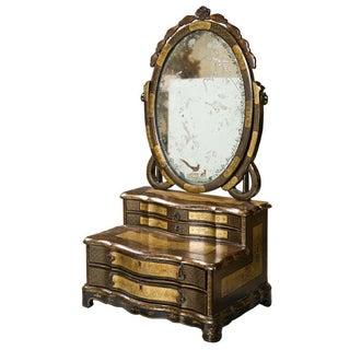 19th C. Oriental Vanity Table Mirror For Sale
