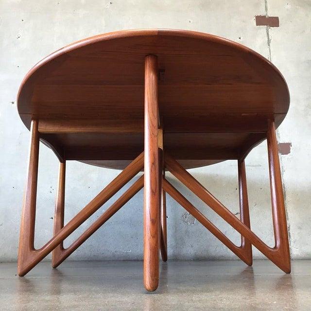 """Mid-Century Modern Vintage Danish Teak """"Gateleg"""" Drop Leaf Dining Table by Kurt Østervig for Jason Møbler For Sale - Image 3 of 10"""
