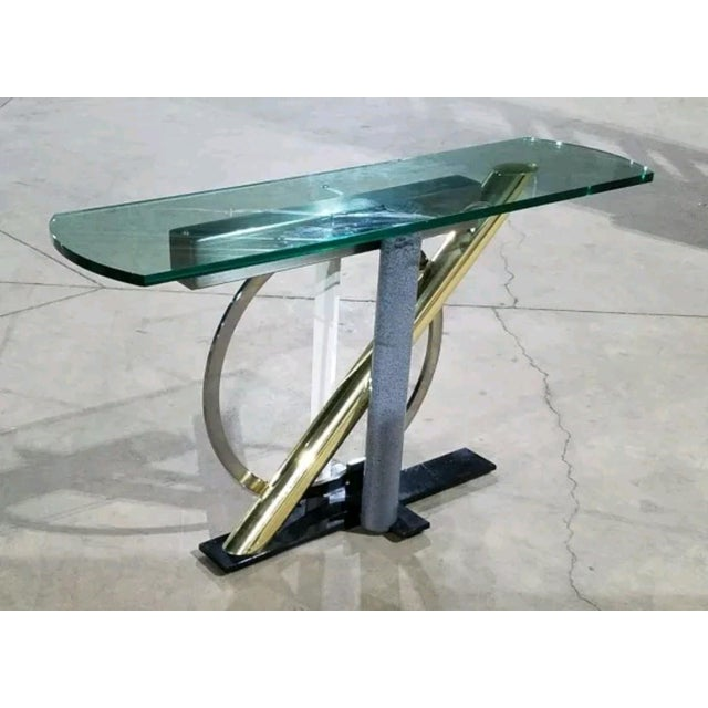 Kaizo Oto Dia Memphis Style Console Table For Sale In Chicago - Image 6 of 6