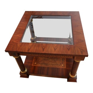 Empire Mahogany End Table For Sale